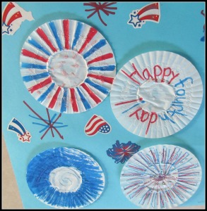 Craft me and my kid made last Independence day