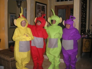 The year my family went as Telli Tubbies.